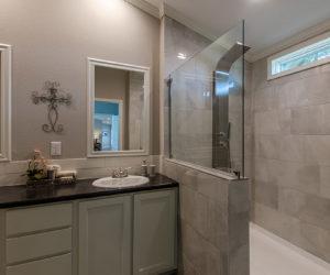 shower in the blake house made by pratt homes tyler tx