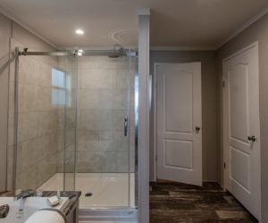 shower in regan house made by prett homes form tyler tx