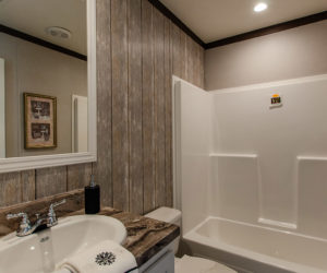 Bathroom at the canal house made by pratt homes tyler tx