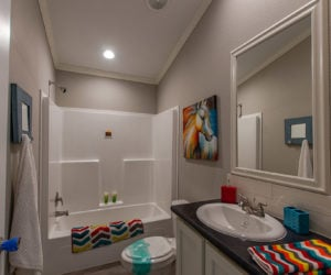 bathroom for the blake house made by pratt homes tyler tx
