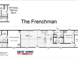 floorplan for the Frenchman house made by pratt homes tyler tx